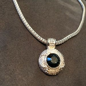 Blue / Siver Necklace.